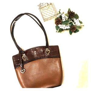 🔥Brighton leather bag w/2tone color& hardware